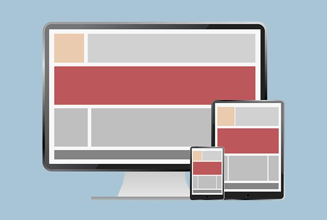 Responsiv: Die Webseite passt sich automatisch an die Endgeräte an